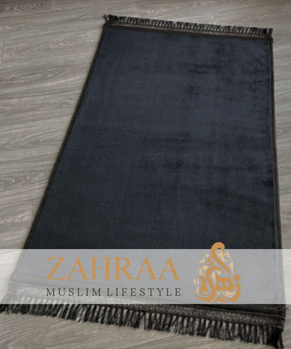 Comfort Prayer Mat Big Size Black Plain
